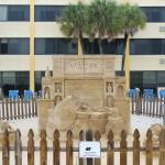 Sand art on the hotel grounds