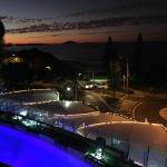 Great views of sun setting overlooking the pool and main street right opposite the beach.