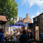 The beer garden at the rear