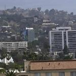 View of the Hollywood hills