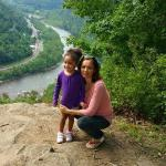 The nearby New River Gorge.....