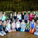 All of the Align & Shine ladies in the yoga rancho with Eduardo & Valerie CYRS Staff
