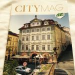 The Golden Star Hotel in the cover of a Prague travel magazine.