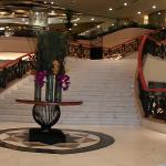 The panoramic view of the hotel lobby