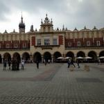 The main building in Krakow square with the museum underneath