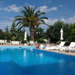 Lovely pool area with ample sun beds