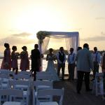 a wedding on the pier of the Westin