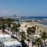 View of the larnaca beach