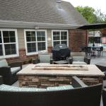 the fire pit - nice area