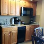 Kitchen area was nicely furnished with all things necessary for dinning in preparation.