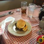 Food was delicious!  Best ever sweet tea. Great waitress and fun decor! So glad we went!
