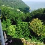 Woody Bay from bedroom window