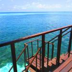 Private stairs into your own big pool. Best snorkelling we've ever done