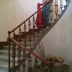 stair case to reception