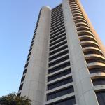 view of hotel from ground level