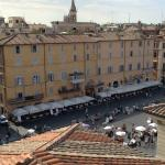 A busy Piazza Navona from our balcony