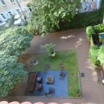 View of the Hotel 103 Garden from our 2nd floor room