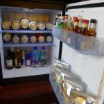 Well-stocked mini bar