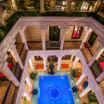 Riad Africa looking down from terrace