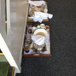 Breakfast Trays on our arrival to our room !