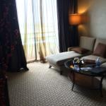 Separate living room in Grand Tower Suite