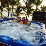 my brother, sister in law and my niece, and the jacuzzi view.
