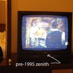 ancient TV with horrible reception