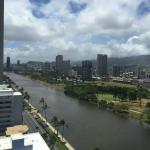 My balcony view of the Ala Wai Canal