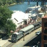 Old Town Wharf and train from our room
