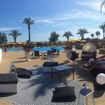 Panorama of the pool area