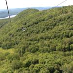 zip lining from the top of Tremblant back to the resort