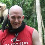 Gumbalimba Park - this capuchin wanted my head sweat
