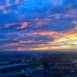 Sunset over West Bromwich - 6th floor view