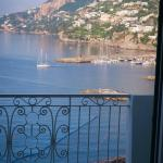 Beautiful view of the Amalfi Coast from our hotel room