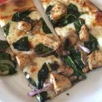 Pizzas, salad and picture of the tarts because they're adorable.