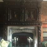 Amazing history in the fireplace in the library