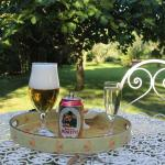 Welcome drink in the garden