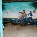 Garage mural - most if not all rooms have a garage space