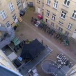 Looking down on to the courtyard from the 5th floor