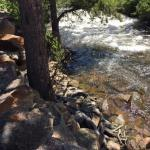 Big Thompson River, steps from cabin door.