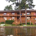 Awesome location, beautiful sunsets, swimming dock, boat dock, Pavilion to grill, and a basic ki