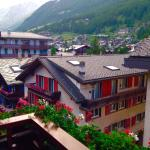 Don't miss the trip up Klein Matterhorn. Great views from our balcony of the main drag.
