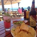 Nelsons chips and avocado with a fresh mojito