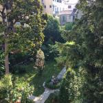 View of the garden from Room 22
