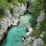 Less than a half a mile away.  the beautiful Soca river