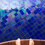 Ready to jump in.  The tiles in the pool were so cool and changed colors slightly in the sunligh