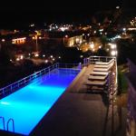 The pool area was so beautiful at night!