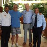 Jose, the hotel boss is on my left. These guys know how to do things right.
