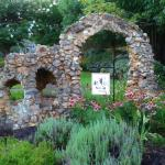 Victorian Rock Garden on the front lawn of Americus Garden Inn