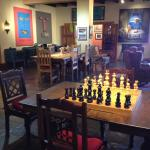 Chess table in old lobby